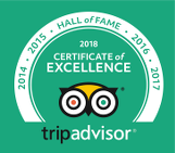 Tripadvisor Hall of Fame Award 2018 for Dutchess