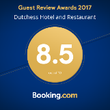 Booking.com Award 2018 for Dutchess